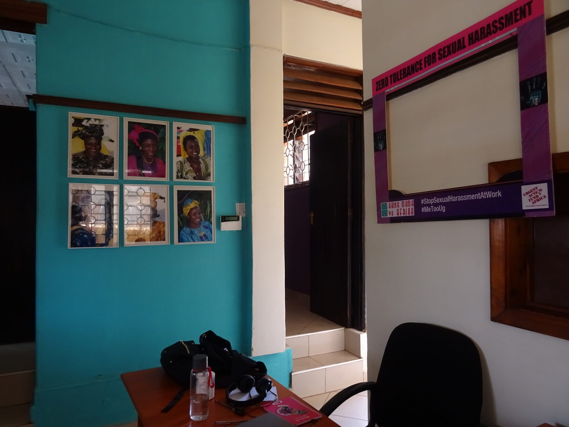 View of my office space at Akina Mama wa Afrika headquarters. 9th February 2020.